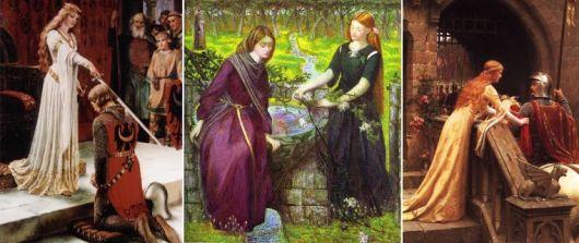 imagem da moda medieval