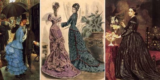 imagem da moda vitoriana
