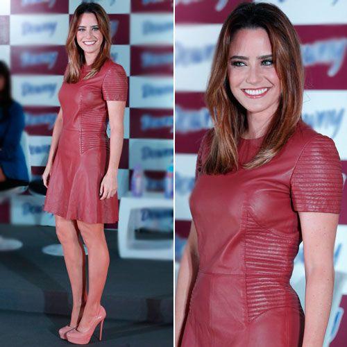 vestido vermelho queimado