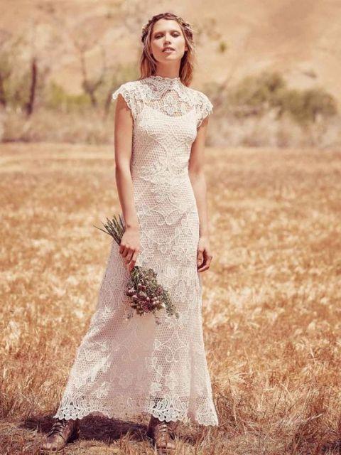 vestido de noiva com bota