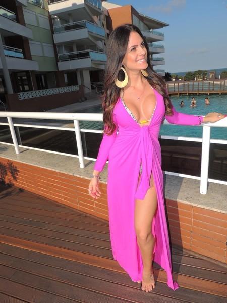 vestido transpassado longo