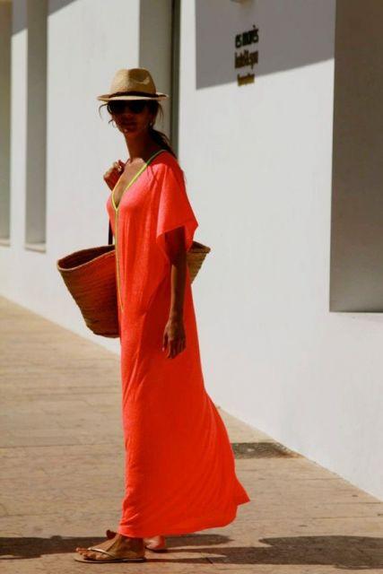 vestido longo túnica