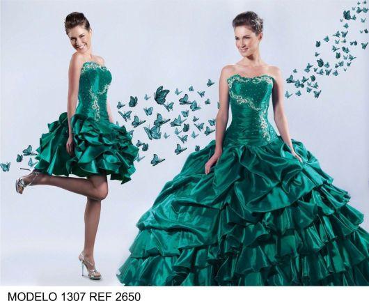 vestido-debutante-2-em-1-verde-ideias