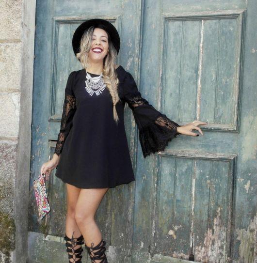 vestido-manga-flare-preto-como-usar