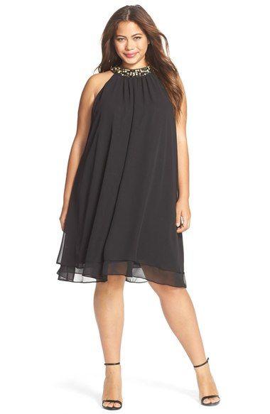 vestido-trapezio-plus-size-preto-de-festa
