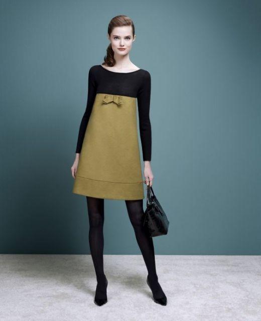 vestido-trapezio-modelo-vintage