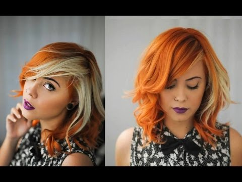 cabelo-com-mecha-branca-laranja