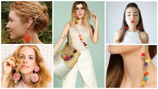 Brinco de pompom: modelos, dicas de como usar e  como fazer!