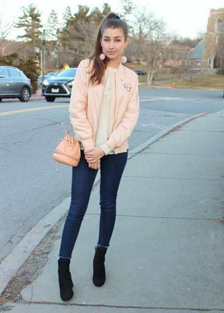 look jaqueta rosa