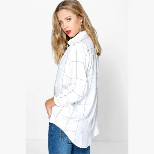 camisa oversized feminina com blusa listrada