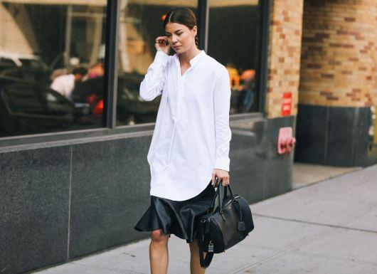 camisa oversized feminina tendência da moda