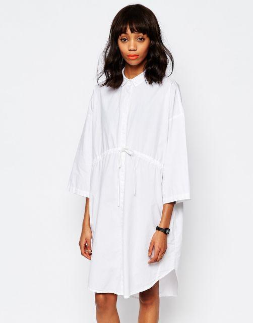 camisa oversized feminina estilo vestido