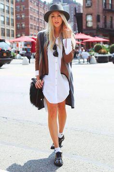 camisa oversized feminina branca