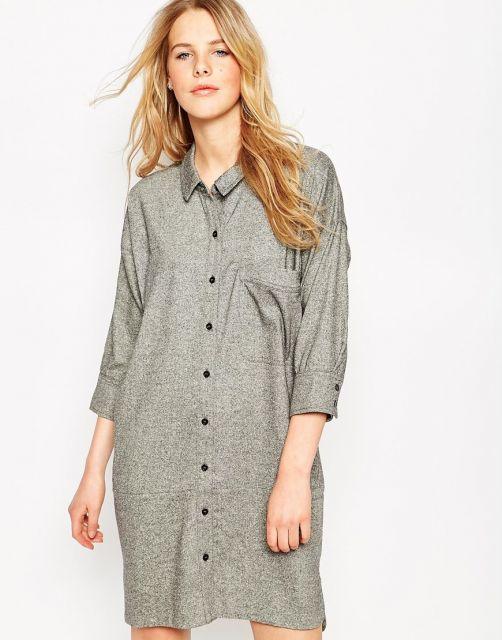 camisa oversized feminina usar como vestido
