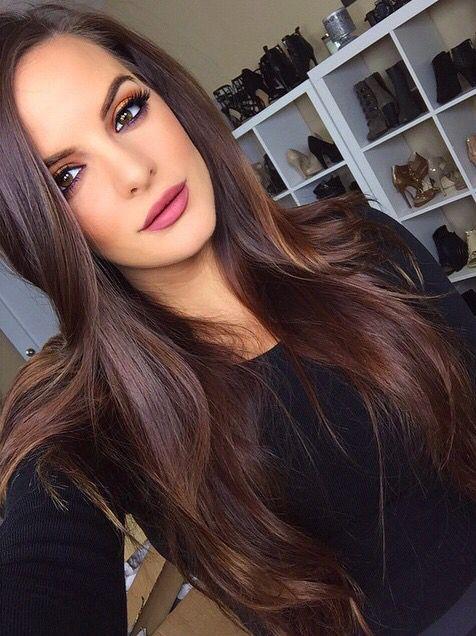 cabelo chocolate com luzes