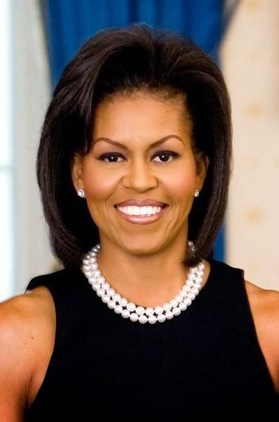 cor cabelo Michelle Obama