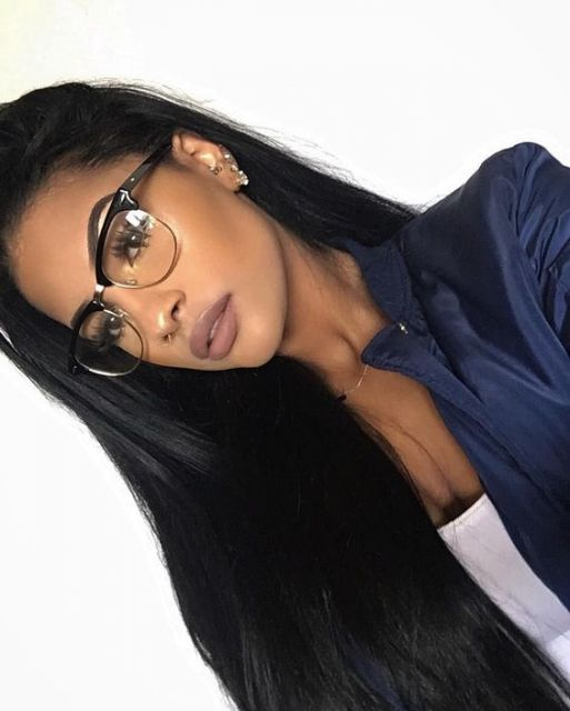 cabelo comprido preto