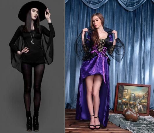 fantasia de bruxa luxo