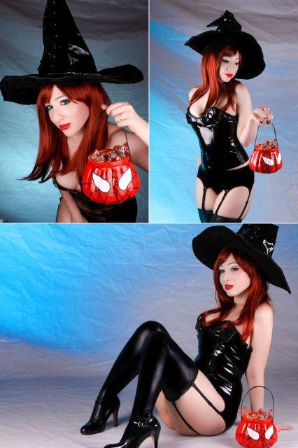 fantasia de bruxa feminina sexy