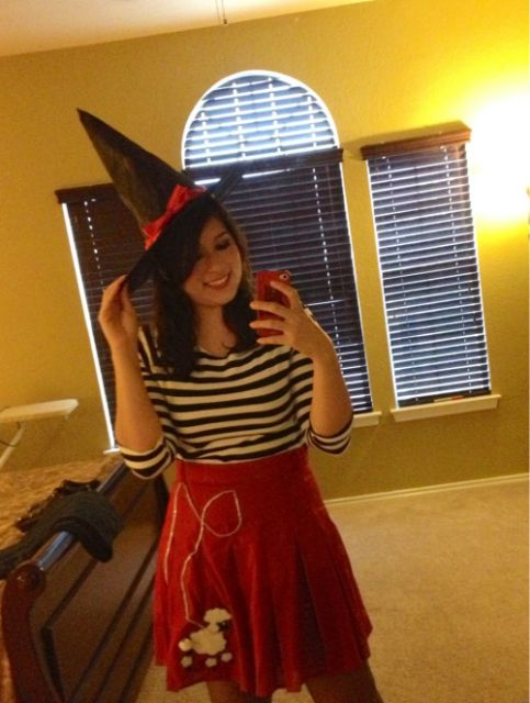 fantasia de bruxa feminina colorida