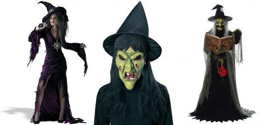 fantasia de bruxa assustadora