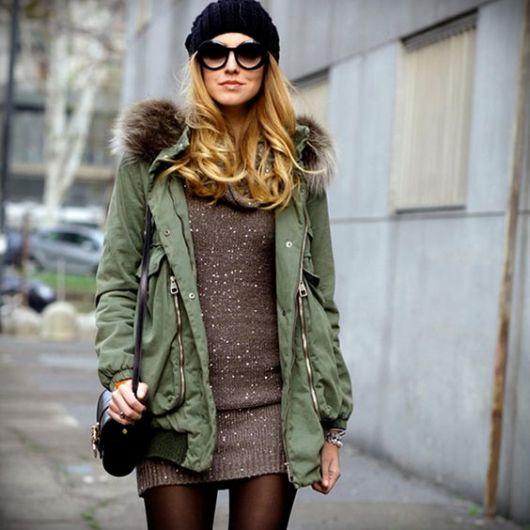 look inverno com vestido