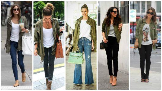 look calça com jaqueta