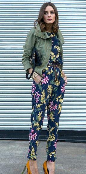 macacão estampa floral