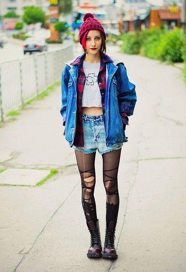 jaqueta-oversized-com-short-jeans-rock