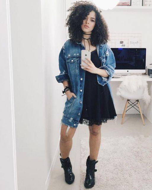 jaqueta-oversized-vestido-preto