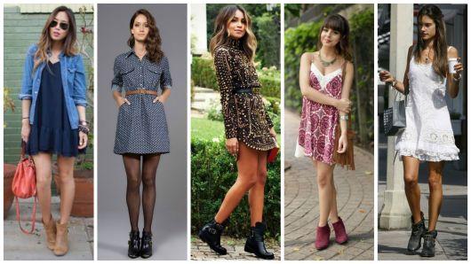 look vestido com bota