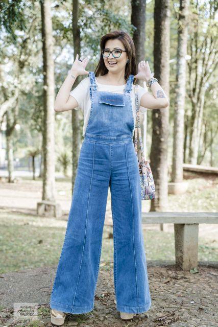 jardineira com blusinha