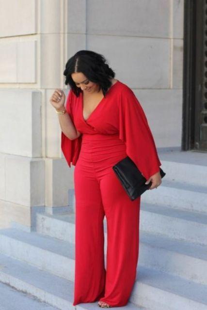 modelo vermelho plus size
