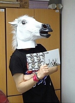 foto divertida máscara