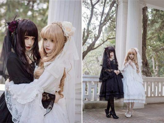 moda japonesa shiro/kuro lolita