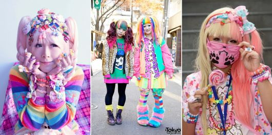 moda japonesa rainbow decora