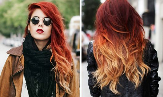 ombre-hair-vermelho-claro