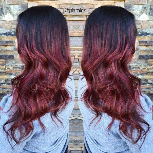 ombre-hair-vermelho-cor-vinho
