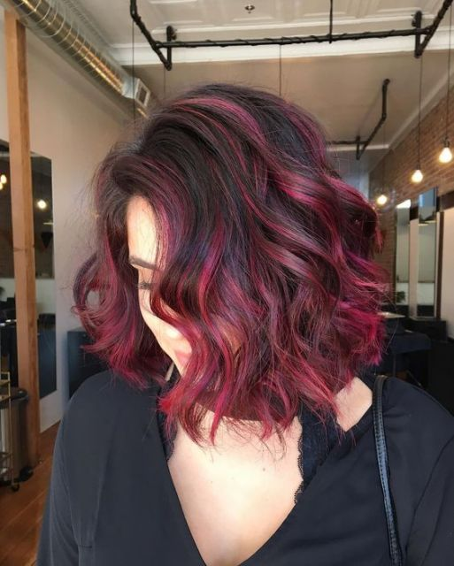 ombre-hair-vermelho-curto