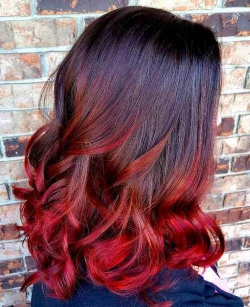 ombre,hair,vermelho,forte