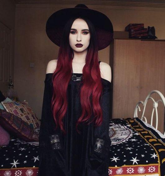 ombre-hair-vermelho-gotica