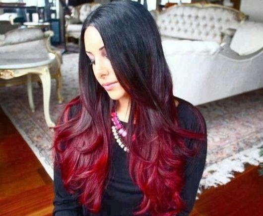 ombre-hair-vermelho-vinho