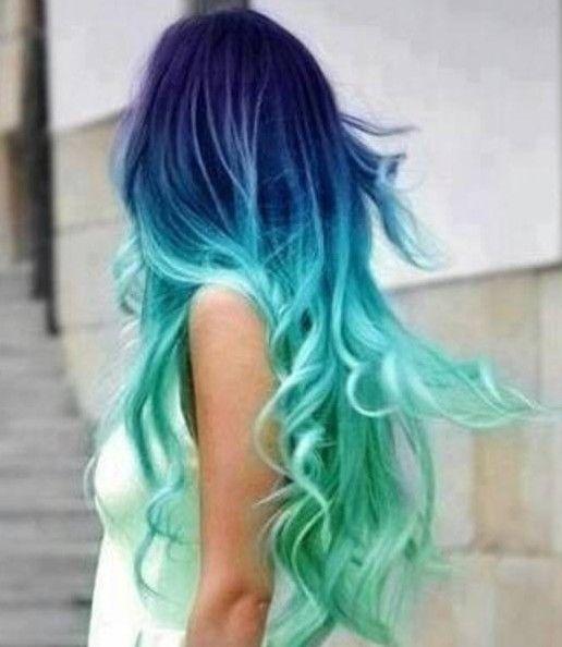 ombre-hair-azul-e-verde