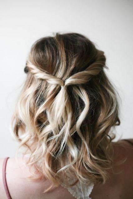 cabelo médio semi preso