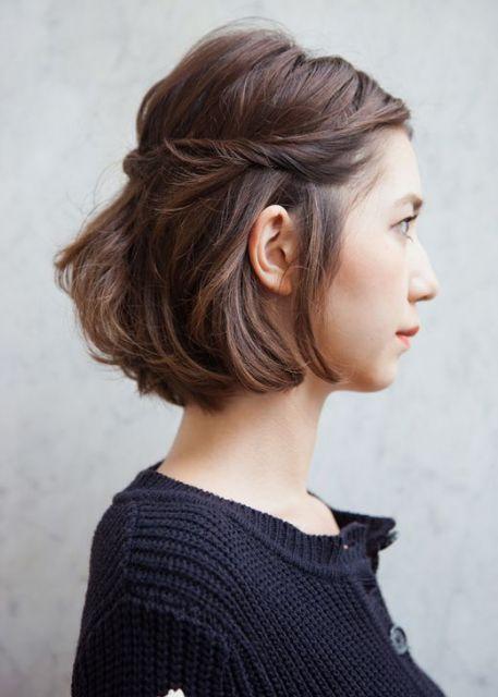 penteado dia a dia cabelo médio