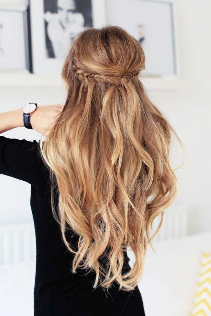 penteado com trança espinha de peixe