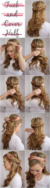 penteado com faixa como fazer