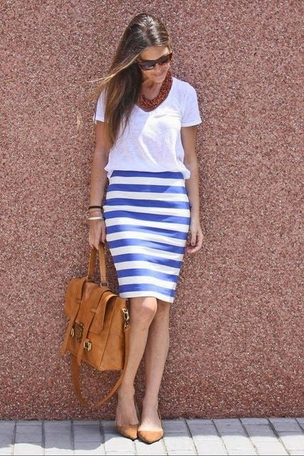 saia azul e branca