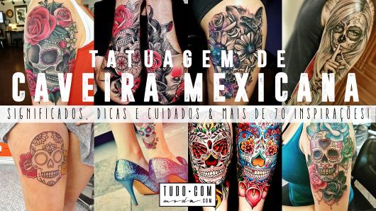 imagem de introdução ao post sobre tatuagem de caveira mexicana