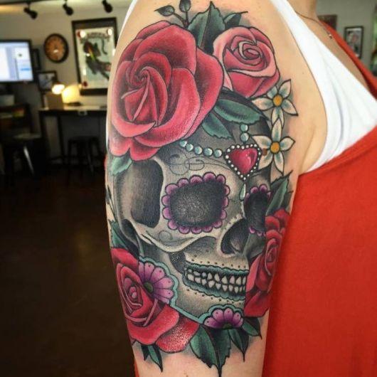 Tatuagens femininas Caveira